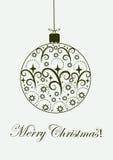 A bola festiva do Feliz Natal ornaments a ilustração ilustração royalty free