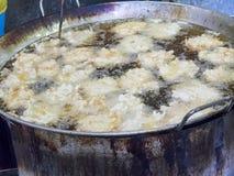 Bola fritada friável do rabanete, alimento do vegetariano Fotografia de Stock