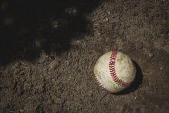 Bola gastada del béisbol Imagen de archivo libre de regalías
