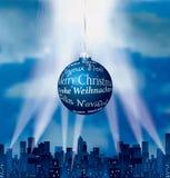 Bola grande de la ciudad azul Foto de archivo libre de regalías
