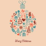 Bola linda de la Navidad Foto de archivo libre de regalías
