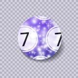 Bola mágica da loteria do vetor, ilustração de brilho isolada no fundo transparente ilustração stock