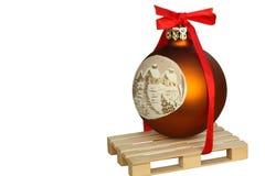 Bola mate de la Navidad. Imágenes de archivo libres de regalías
