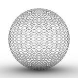 Bola metálica en el fondo blanco ilustración del vector