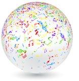Bola musical con las notas coloridas libre illustration
