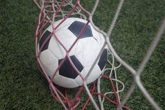 Bola na rede, objetivo Imagem de Stock