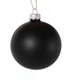 Bola negra de la Navidad foto de archivo