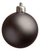 Bola negra de la Navidad Fotografía de archivo libre de regalías