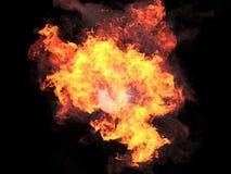 Bola no fogo Fotografia de Stock