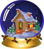 Bola nocturna de la nieve del `s del Año Nuevo. Foto de archivo