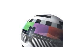 Bola o esfera de la tarjeta de la prueba de la TV Foto de archivo libre de regalías