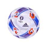 Bola oficial 2016 del campeonato de Francia del EURO de la UEFA Diseño exacto del volumen de la acuarela Fotos de archivo libres de regalías