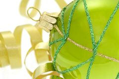 Bola ornamental verde imagenes de archivo
