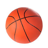 Bola para el juego en baloncesto del color anaranjado Fotografía de archivo