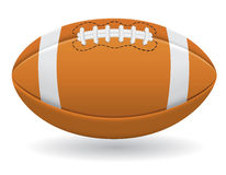 Bola para a ilustração do vetor do futebol americano Foto de Stock Royalty Free