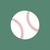 Bola plana del béisbol del icono Foto de archivo