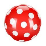 Bola pontilhada vermelho Fotos de Stock Royalty Free