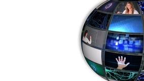 Bola que gira mostrar imagens diferentes sobre a ciência filme