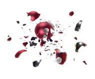Bola quebrada da árvore de Natal Imagens de Stock Royalty Free