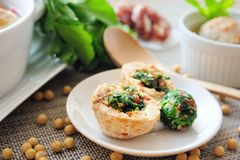 Bola rellena del queso de soja Foto de archivo libre de regalías