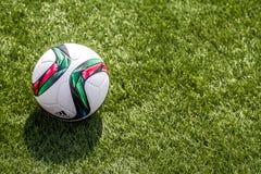 Bola RFPL del fútbol Imagen de archivo libre de regalías