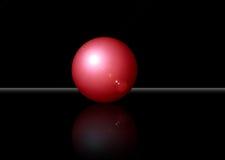 bola roja 3D con la corrección del recortes Foto de archivo libre de regalías