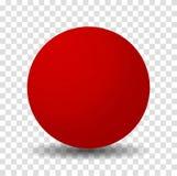 Bola roja brillante de la esfera ilustración del vector