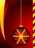 Bola roja de Christmass fotos de archivo