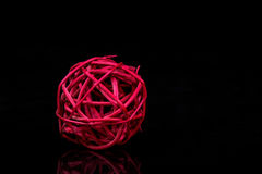 Bola roja de la decoración Imagen de archivo libre de regalías