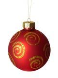 Bola roja de la Navidad. Foto de archivo libre de regalías
