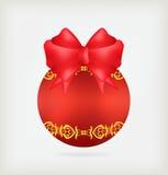 Bola roja de la Navidad libre illustration