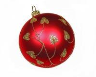 Bola roja de la Navidad fotos de archivo