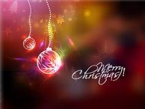Bola roja de la Navidad Imágenes de archivo libres de regalías