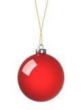 Bola roja de la Navidad Stock de ilustración