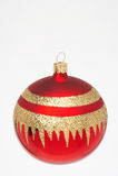 Bola roja de la Navidad - weihnachtskugel de memoria Fotografía de archivo libre de regalías