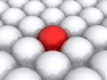 Bola roja dentro del blanco unos ilustración del vector