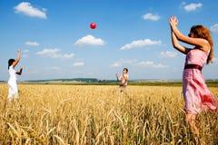 Bola roja en juego. Imagen de archivo libre de regalías