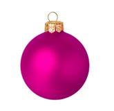 Bola rosada de la Navidad Foto de archivo
