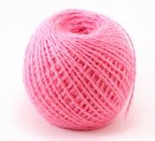 Bola rosada de las lanas Imagen de archivo