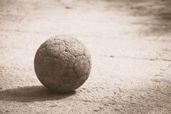 Bola só preta & branca Foto de Stock