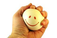 Bola sonriente a disposición Foto de archivo
