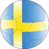 Bola Suecia del vector del fútbol fotos de archivo libres de regalías