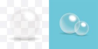 Bola transparente, esfera de cristal, burbuja de jabón Imágenes de archivo libres de regalías