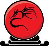 Bola tribal del dragón ilustración del vector