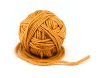 Bola verde de la cuerda de rosca Fotografía de archivo libre de regalías