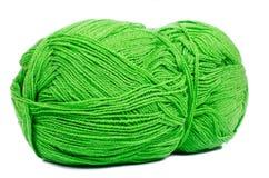 Bola verde de la cuerda de rosca Fotos de archivo