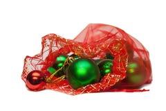Bola verde en bolso Imágenes de archivo libres de regalías