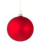 Bola vermelha do Natal Imagens de Stock