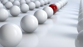 Bola vermelha proeminente Imagem de Stock