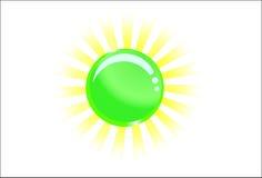 Bola vidriosa verde con la luz detrás Libre Illustration